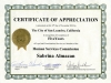 Certificate of Appreciation City of San Leandro hsc-5yrs